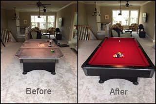 pool table refelting and pool table cloth in aurora content